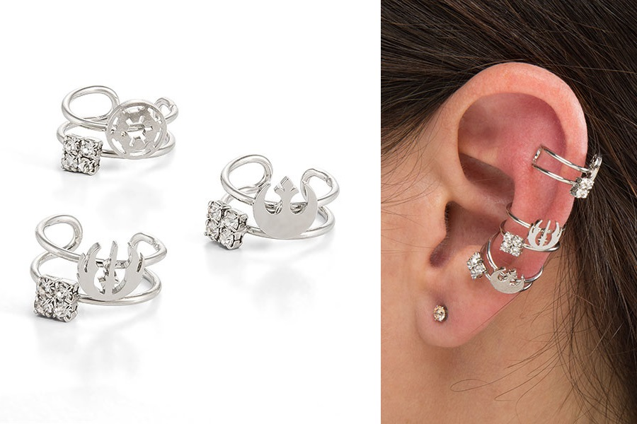 Star Wars Symbol Ear Cuff Set at ThinkGeek