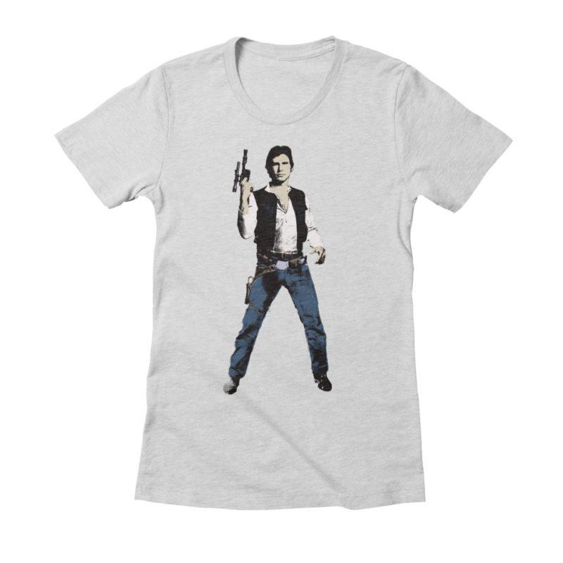 Women's Star Wars Han Solo technicolor t-shirt at Threadless