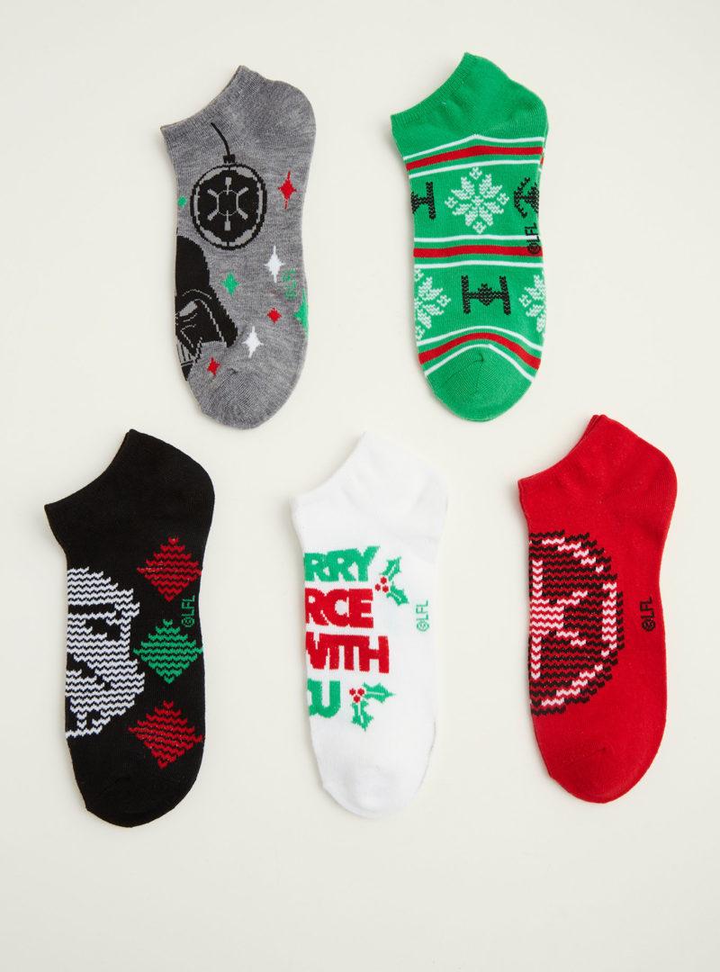 Women's Star Wars Christmas themed ankle sock 5-pack at Torrid