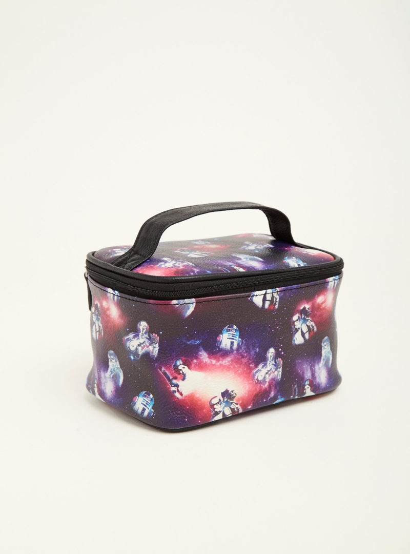 Star Wars Galaxy print cosmetic bag traincase at Torrid