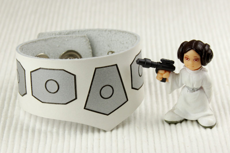 Star Wars Princess Leia inspired leather bracelet by Legendary Costume Works