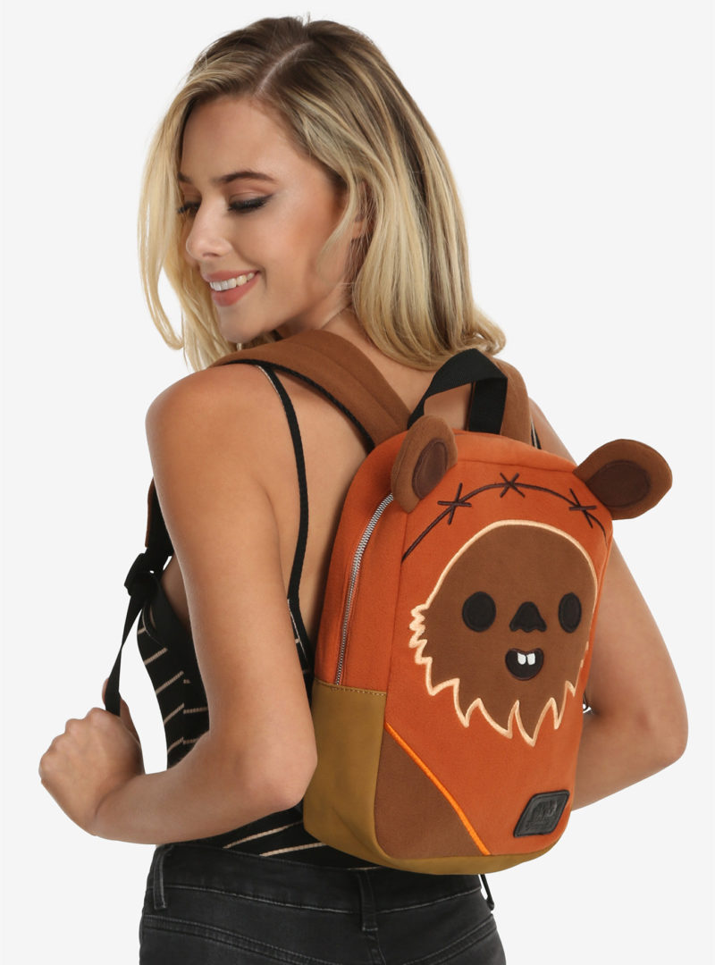 Loungefly x Star Wars Ewok fleece mini backpack available exclusively at Box Lunch