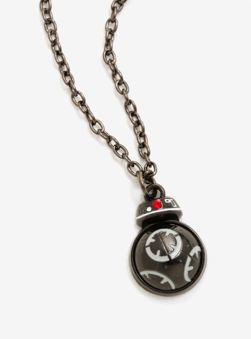 Star Wars The Last Jedi BB-9E swivel necklace available exclusively at Box Lunch