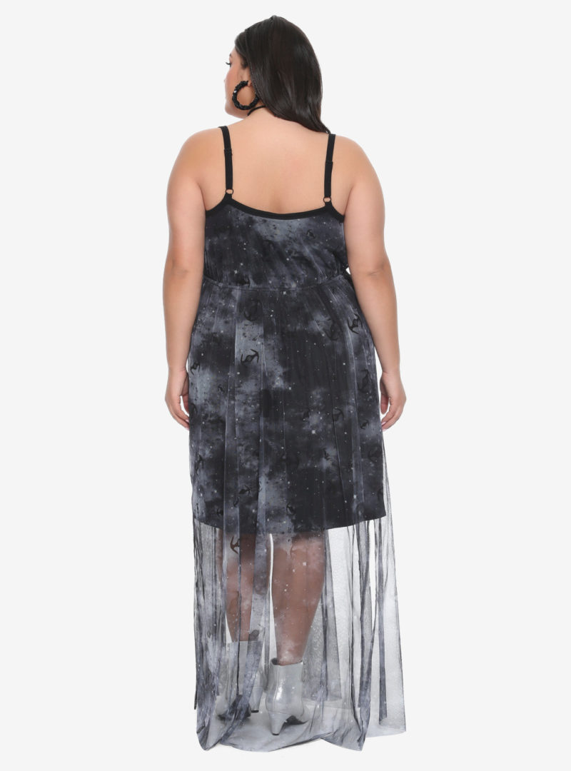 Women's plus size Star Wars Starfighter TIE Fighter maxi dress at Hot Topic