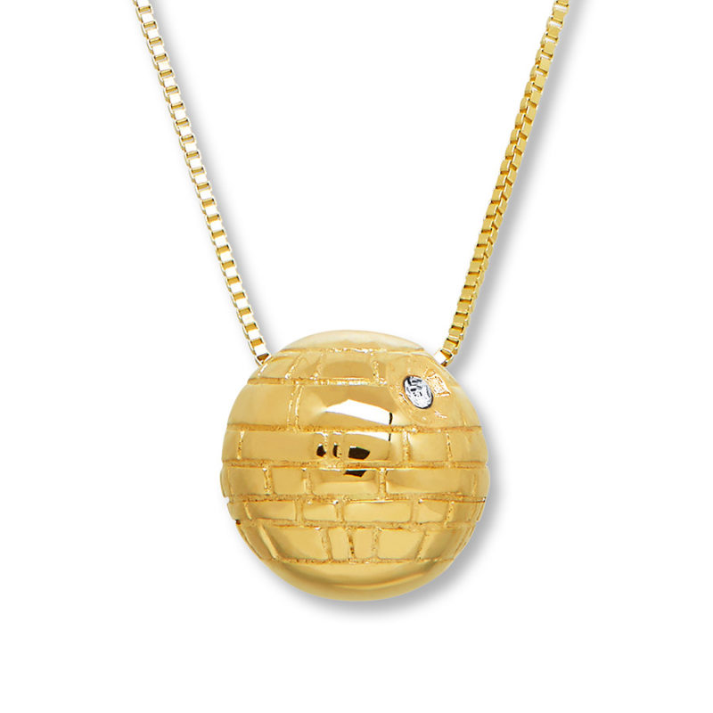 Leia's List - Star Wars Death Star Gold necklace at Kay Jewelers