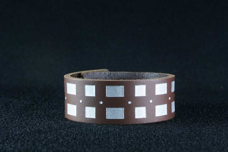 Star Wars Chewbacca inspired leather cuff bracelet by Legendary Costume Works