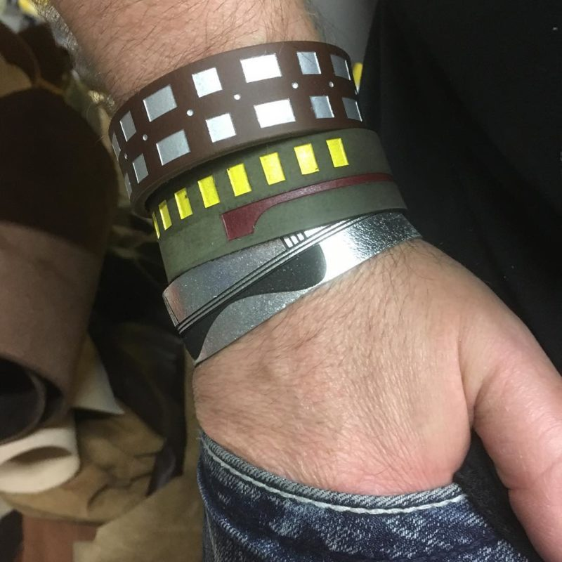Star Wars character inspired leather cuff bracelets by Legendary Costume Works