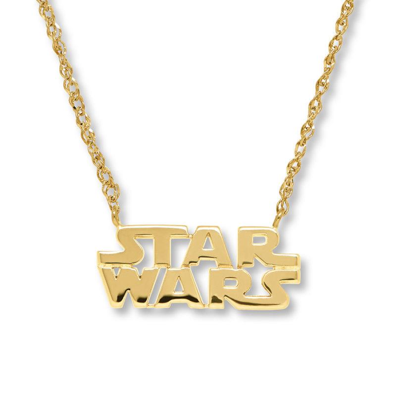 Leia's List - Kay Jewelers x Star Wars logo necklace 10K yellow Gold