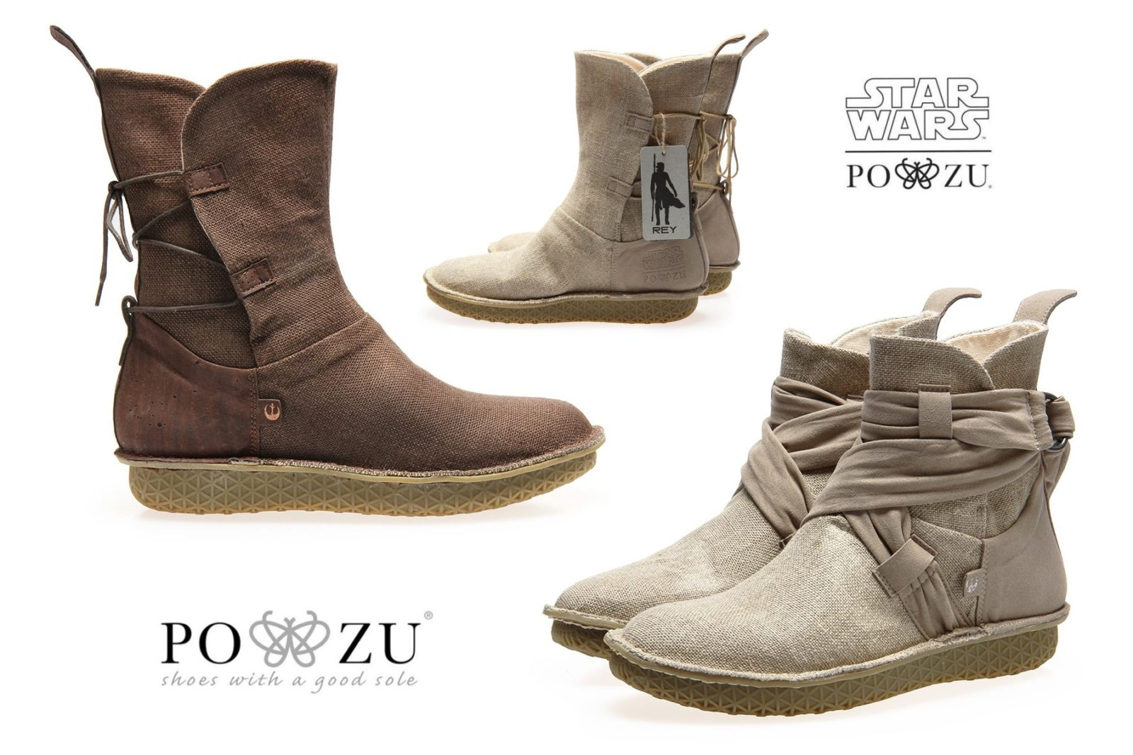 New Po-Zu Star Wars Rey Boot Collection