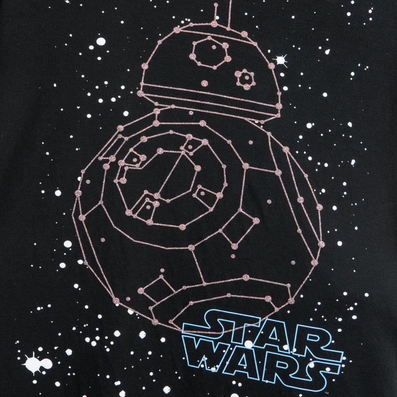 Women's Star Wars BB-8 Constellation Glitter print t-shirt at Shop Disney