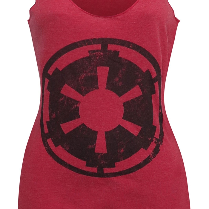 Women's Star Wars Galactic Empire Imperial symbol tank top at SuperHeroStuff