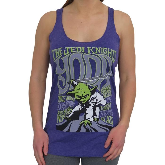 Women's Star Wars Yoda & The Jedi Knights tank top at SuperHeroStuff