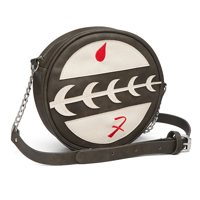 Star Wars Boba Fett Mandalorian Crest Symbol faux leather crossbody bag available exclusively at ThinkGeek