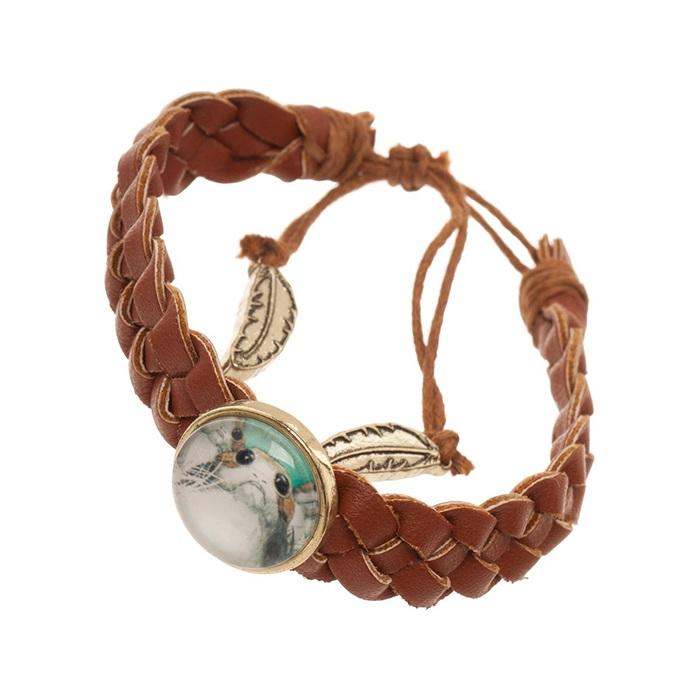 Bioworld x Star Wars The Last Jedi Porg faux leather braided bracelet at Zulily