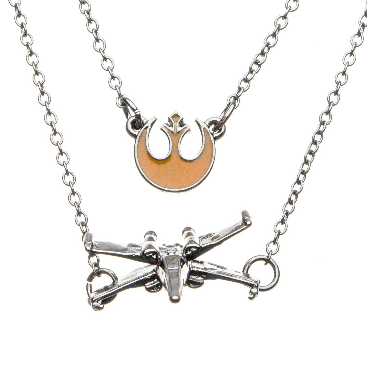 Women's Star Wars Episode 8 Rebel Poe Dameron X-Wing Tiered Pendant Necklace on Amazon