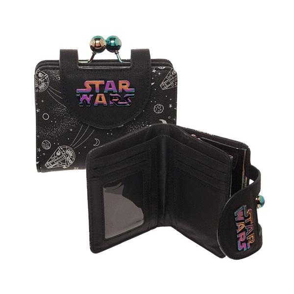 Bioworld x Star Wars Solo Millennium Falcon Iridescent Mini-Wallet at Entertainment Earth
