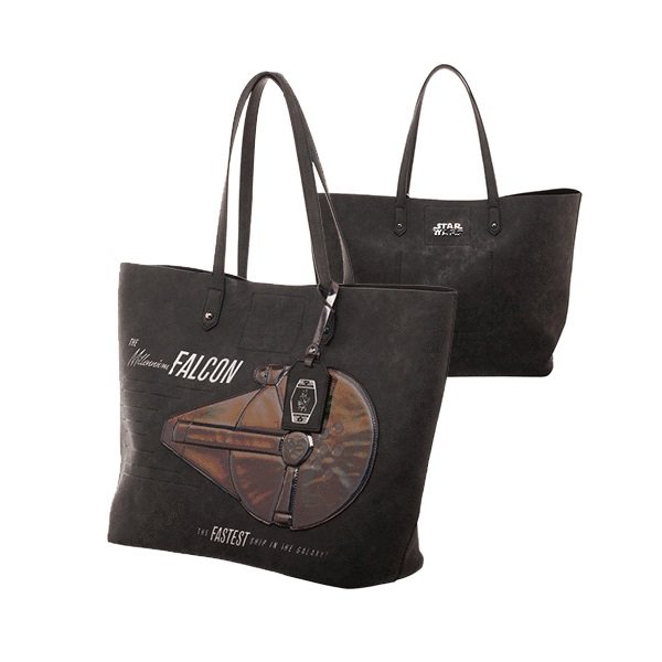 Bioworld x Star Wars Solo Iridescent Millennium Falcon Tote Purse at Entertainment Earth