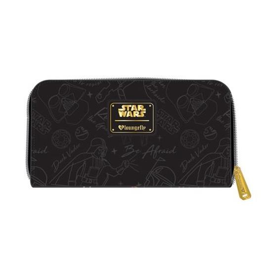 Loungefly x Star Wars Darth Vader Minimal Black Wallet at Entertainment Earth