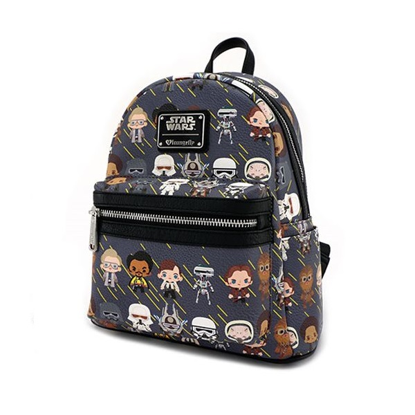 Loungefly x Star Wars Solo Chibi Character Print PU Mini-Backpack at Entertainment Earth