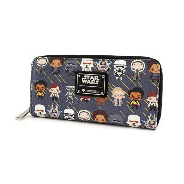 Loungefly x Star Wars Solo Chibi Character Print Zip-Around Wallet at Entertainment Earth