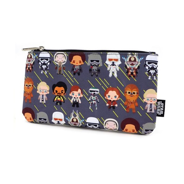 Loungefly x Star Wars Solo Chibi Character Print Pencil Case/Coin Purse at Entertainment Earth