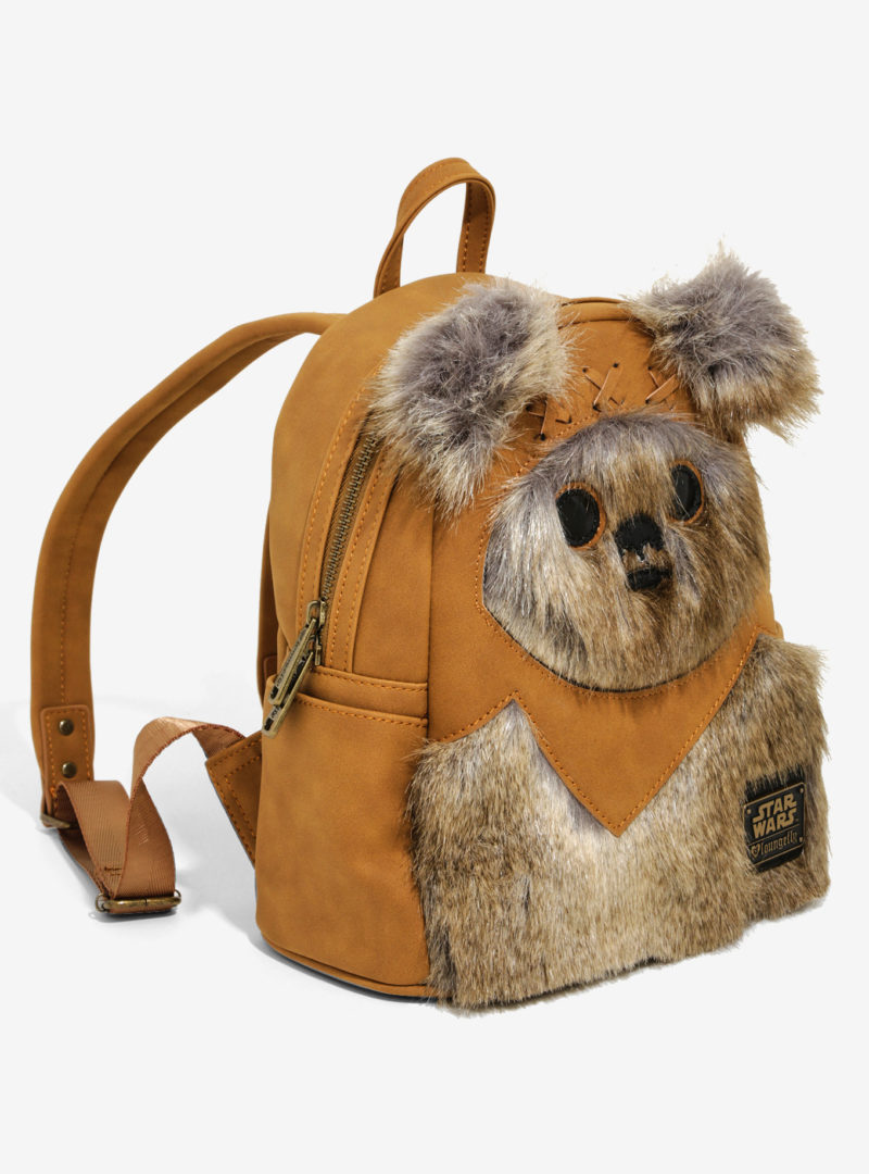 Loungefly x Star Wars Ewok faux fur mini backpack at Hot Topic