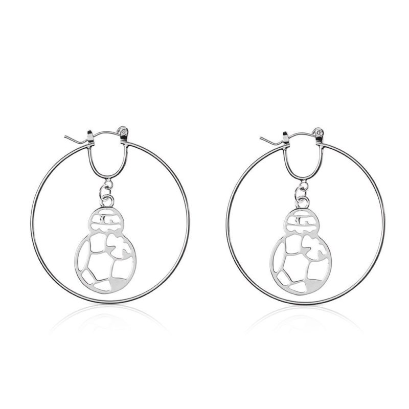 One Force Designs x Star Wars BB-8 hoop earrings (silver plated)