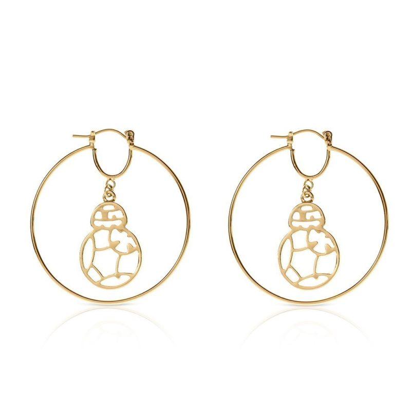 One Force Designs x Star Wars BB-8 hoop earrings (gold plated)
