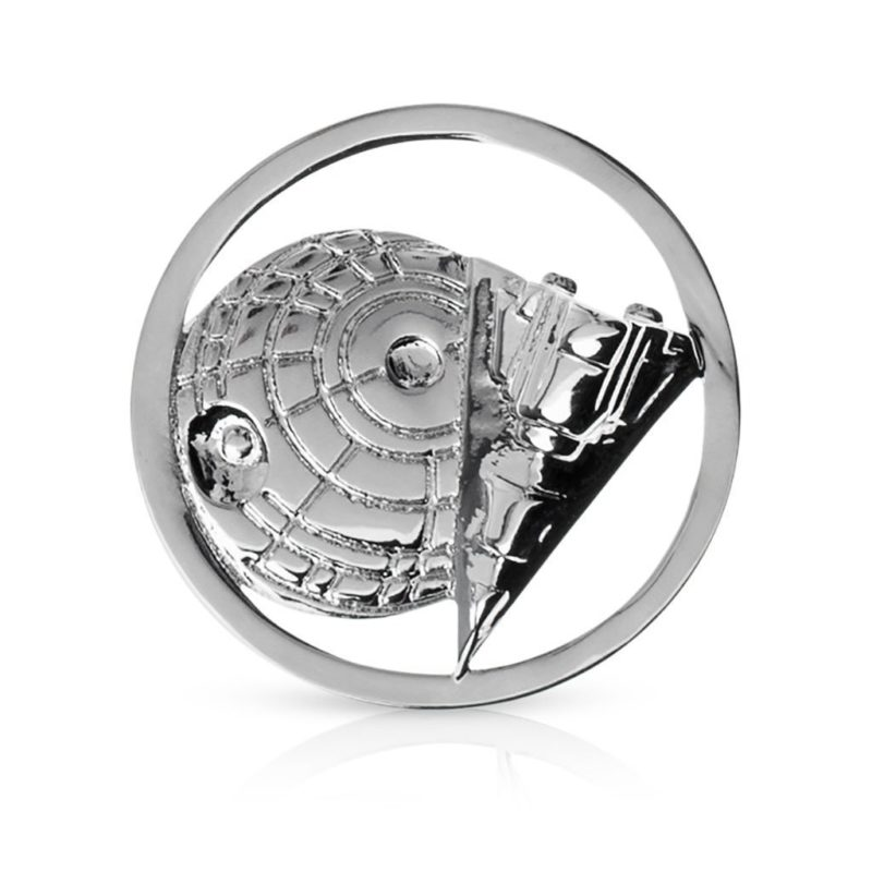One Force Designs x Star Wars Galactic Changes Death Star & Star Destroyer coin charm (silver plated)