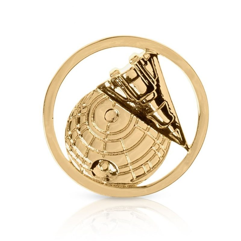 One Force Designs x Star Wars Galactic Changes Death Star & Star Destroyer coin charm (gold plated)