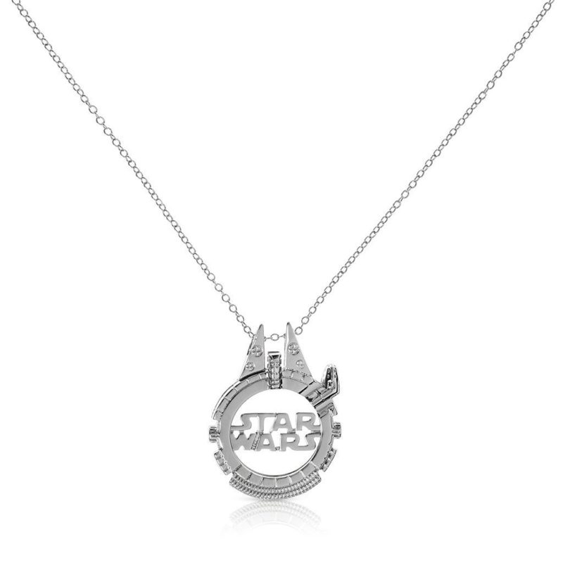 One Force Designs x Star Wars Galactic Changes Millennium Falcon necklace (silver plated)