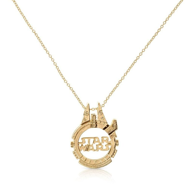 One Force Designs x Star Wars Galactic Changes Millennium Falcon necklace (gold plated)