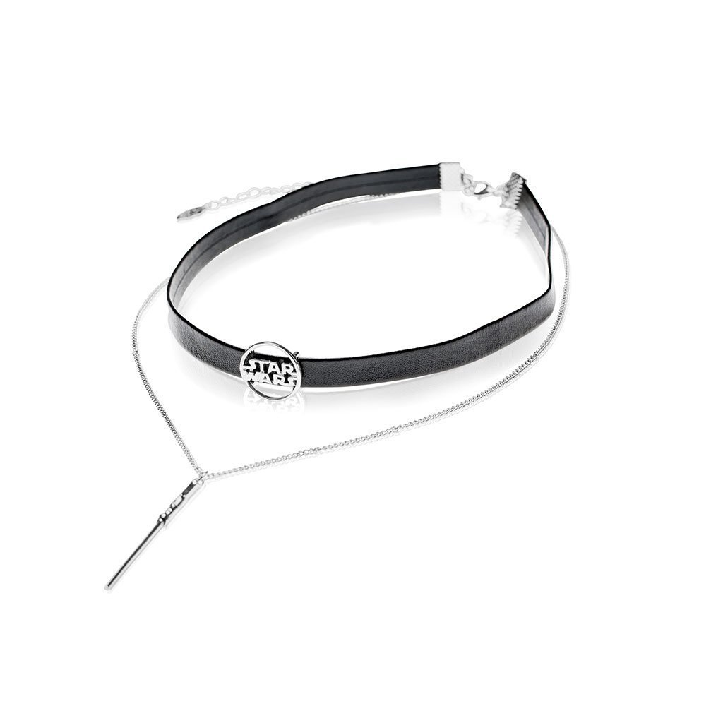 One Force Designs x Star Wars Lightsaber choker necklace (silver plated)