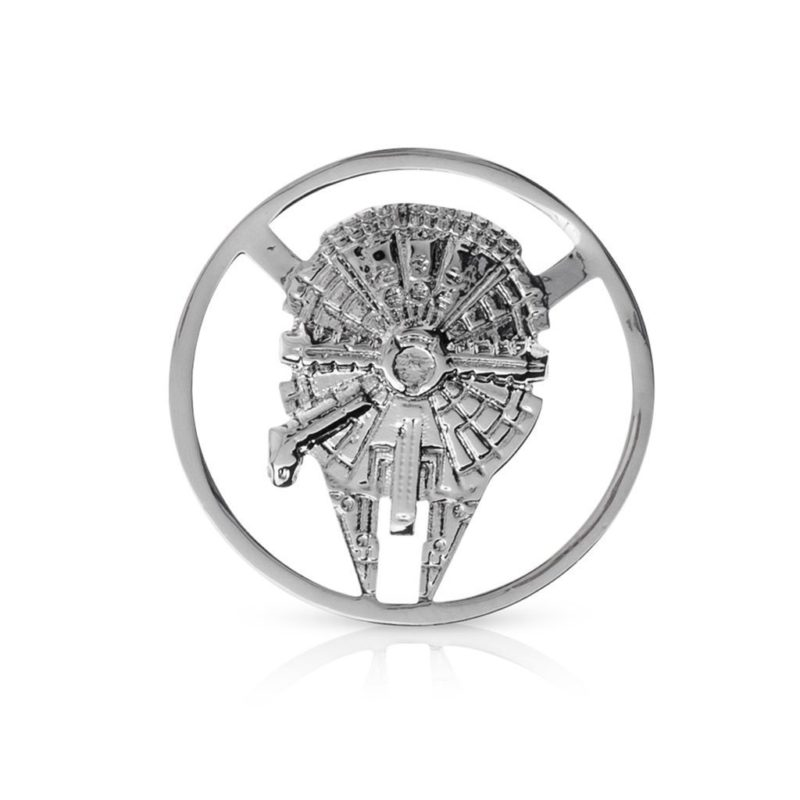 One Force Designs x Star Wars Galactic Changes Millennium Falcon coin charm (silver plated)