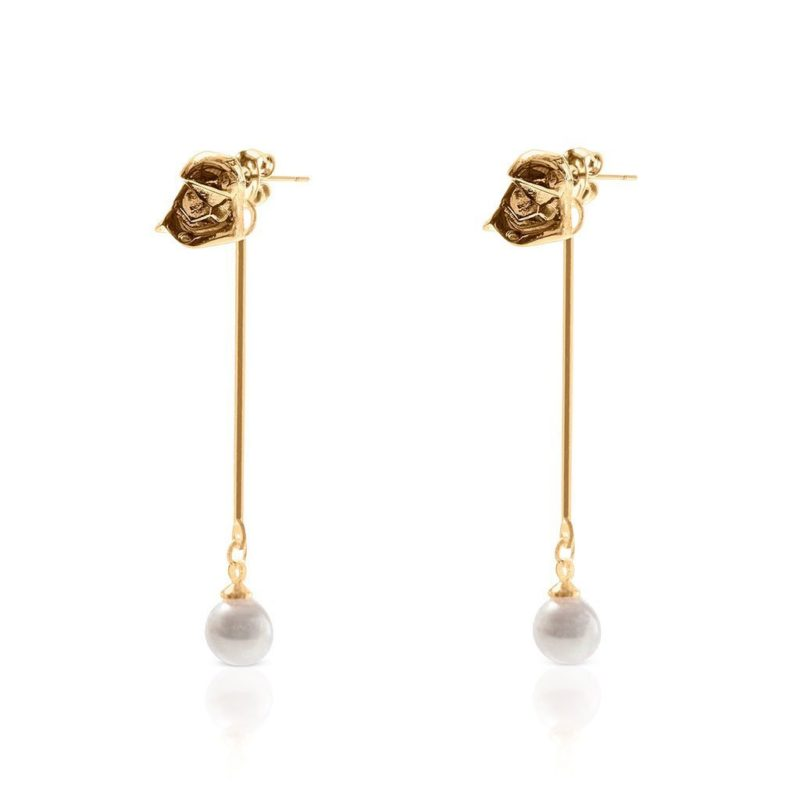 One Force Designs x Star Wars First Order Stormtrooper Backdrop earrings (gold plated)