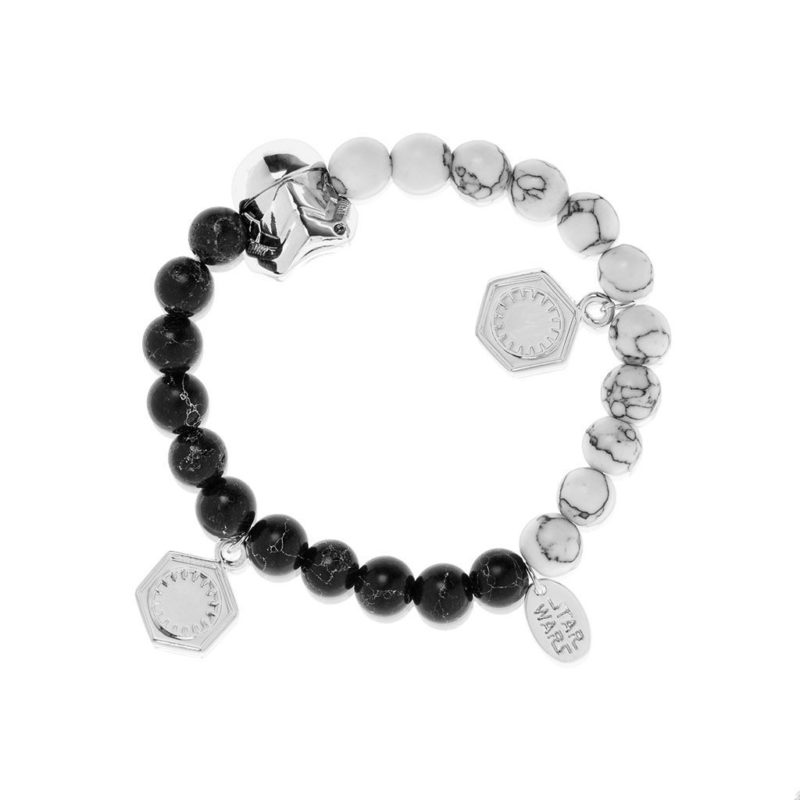One Force Designs x Star Wars First Order Stormtrooper beaded bracelet (silver plated)