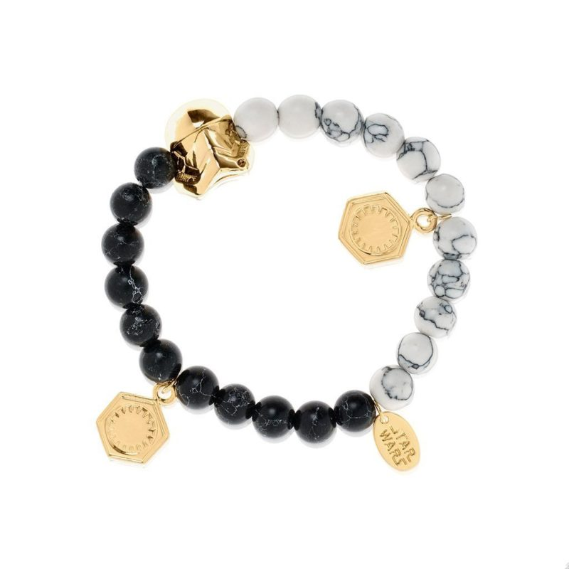 One Force Designs x Star Wars First Order Stormtrooper beaded bracelet (gold plated)