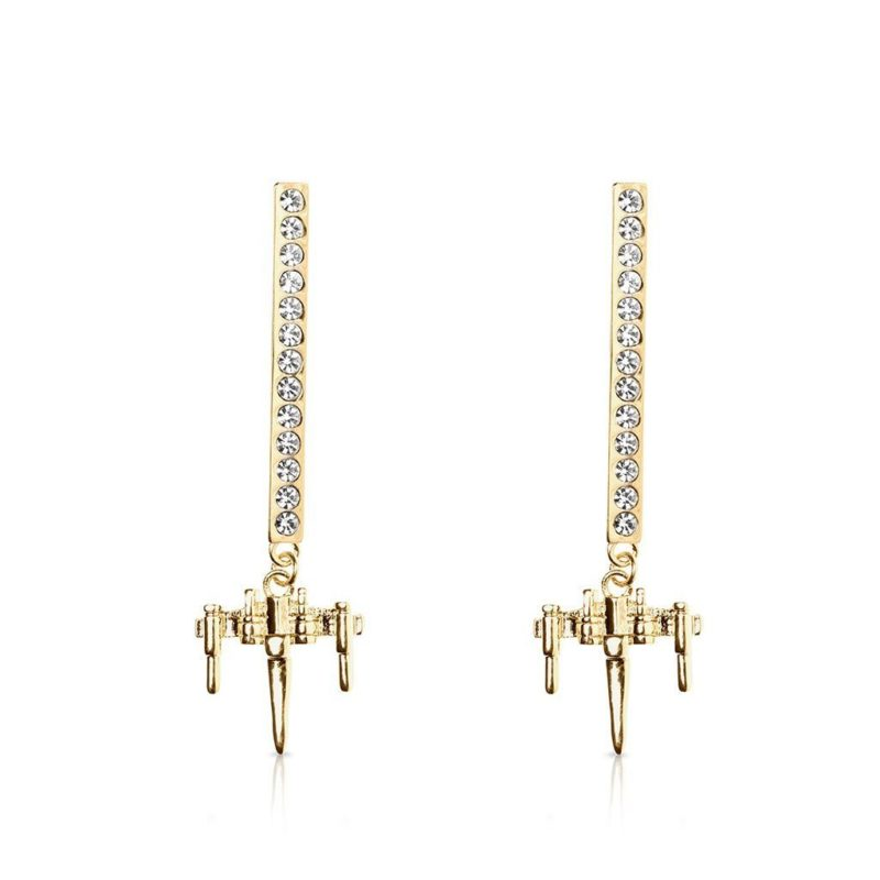 One Force Designs x Star Wars X-Wing Fighter earrings (gold plated)