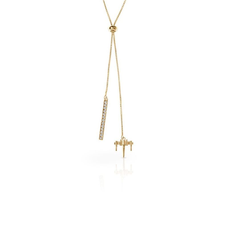 One Force Designs x Star Wars X-Wing Fighter necklace (gold plated)