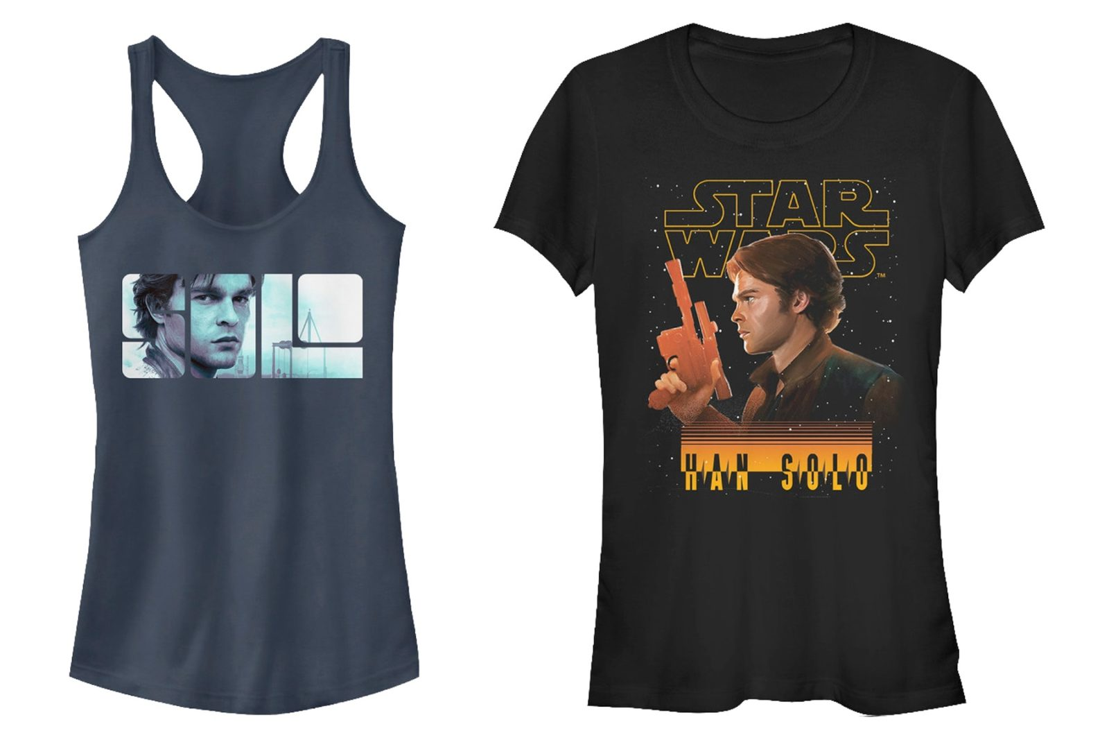 Women's Star Wars Solo Tops at 80's Tees