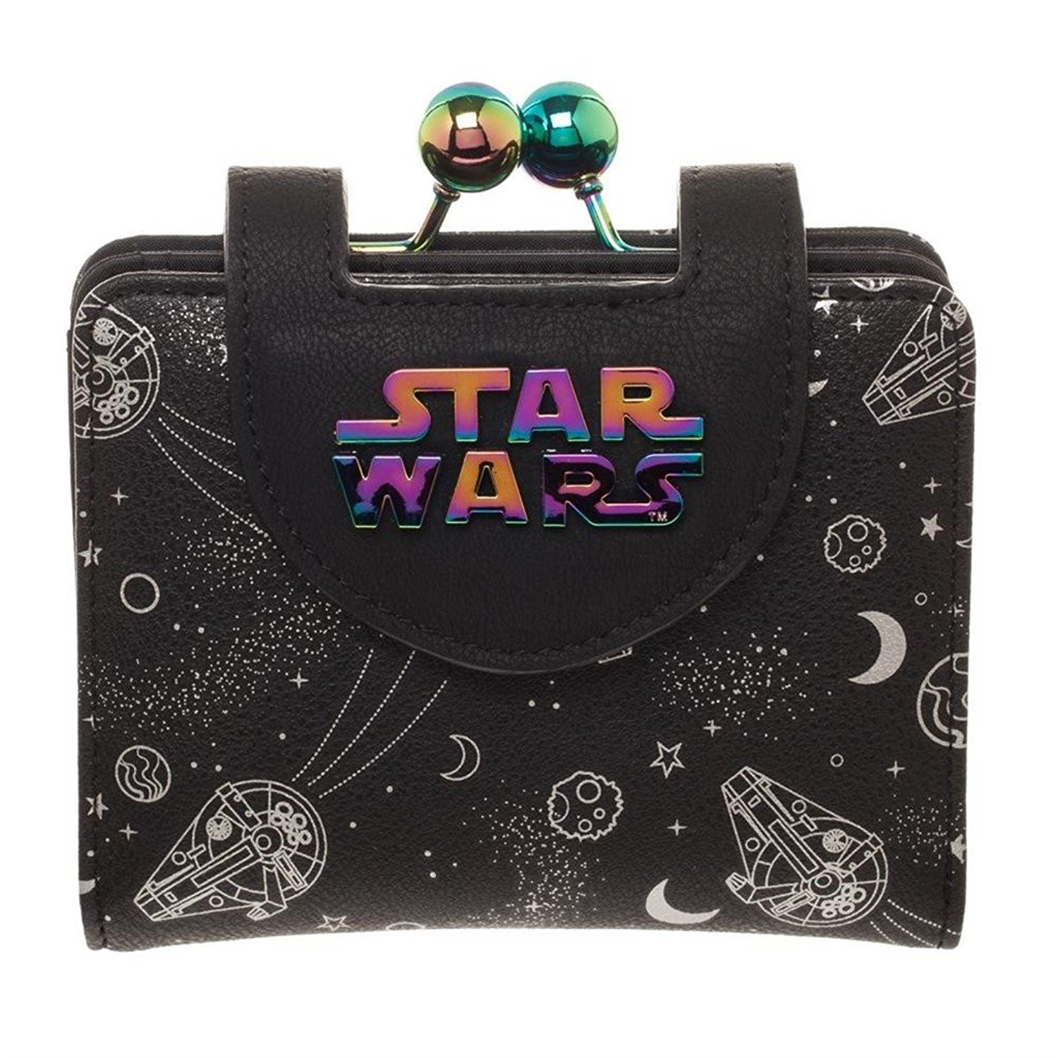 Bioworld x Solo A Star Wars Story Millennium Falcon Iridescent Kisslock Wallet on Amazon