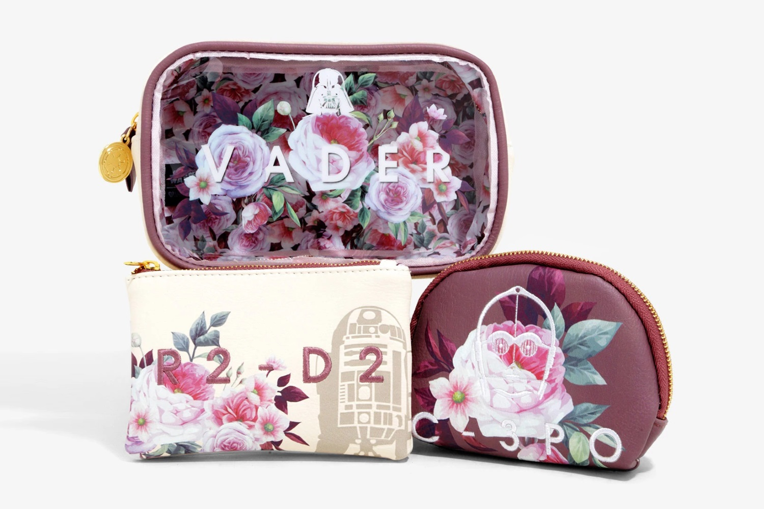 Loungefly x Star Wars Floral Makeup Bag Set