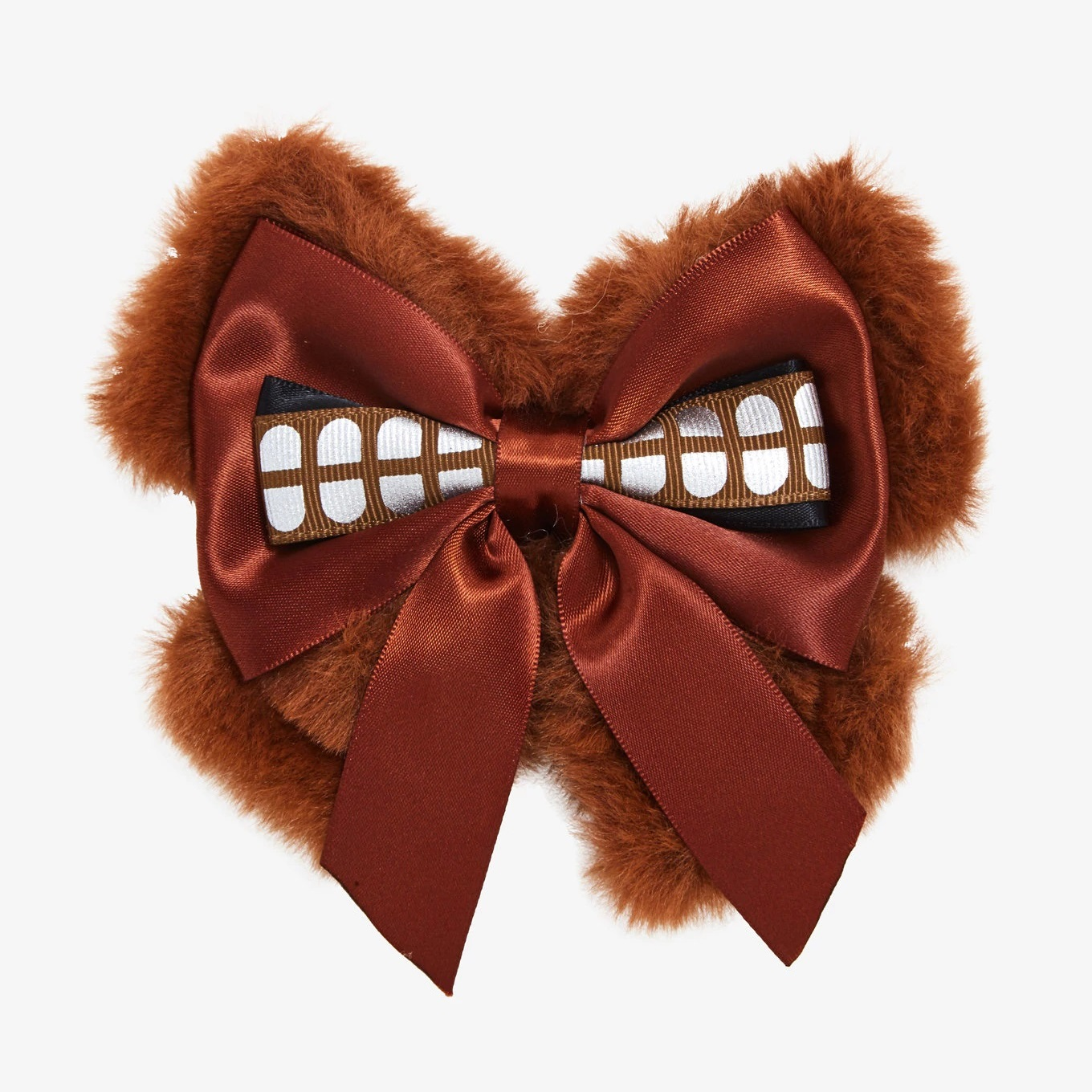 Star Wars Chewbacca Fuzzy Faux Fur Cosplay Style Hair Bow at Hot Topic