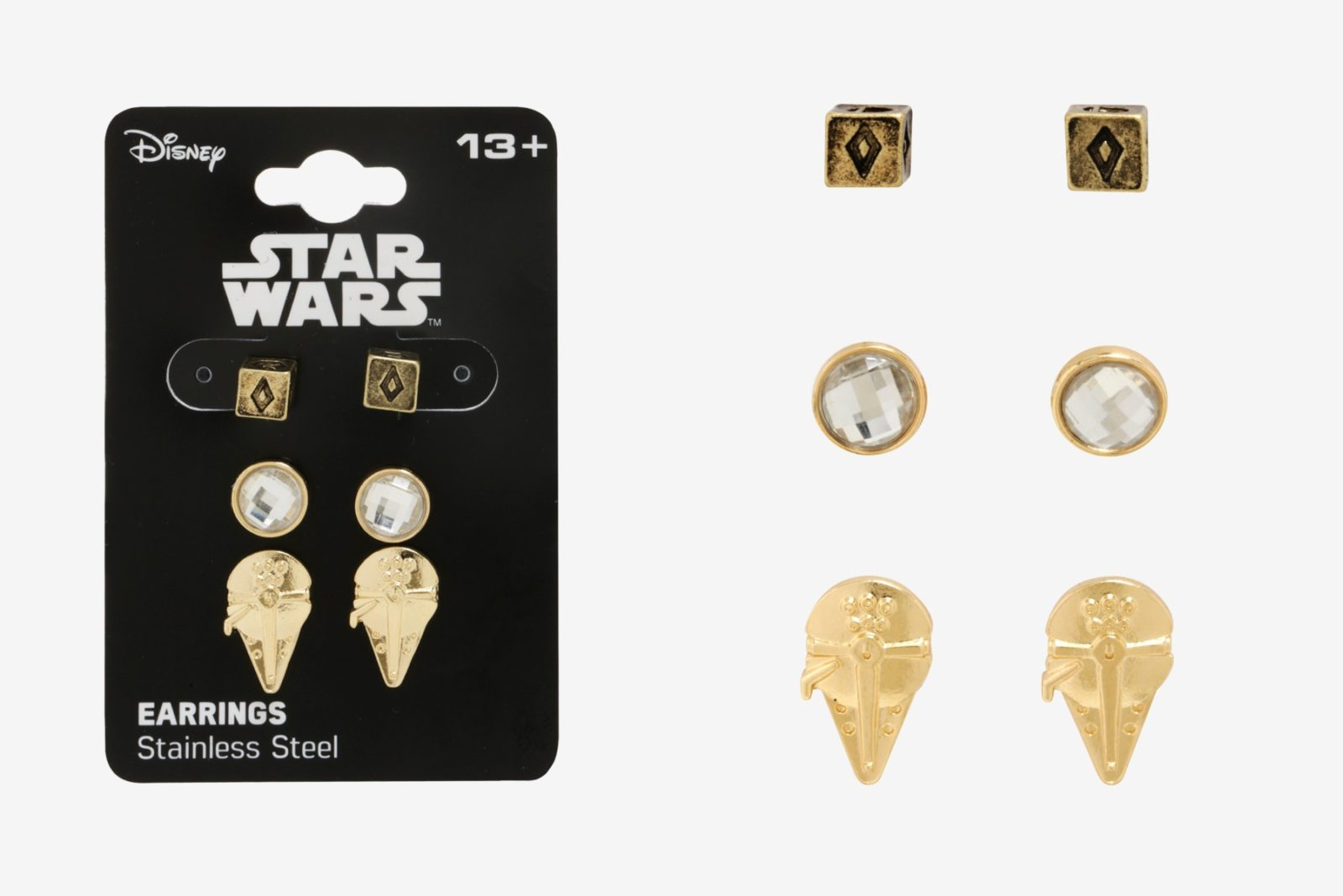 Solo Themed Stud Earring Set at Hot Topic