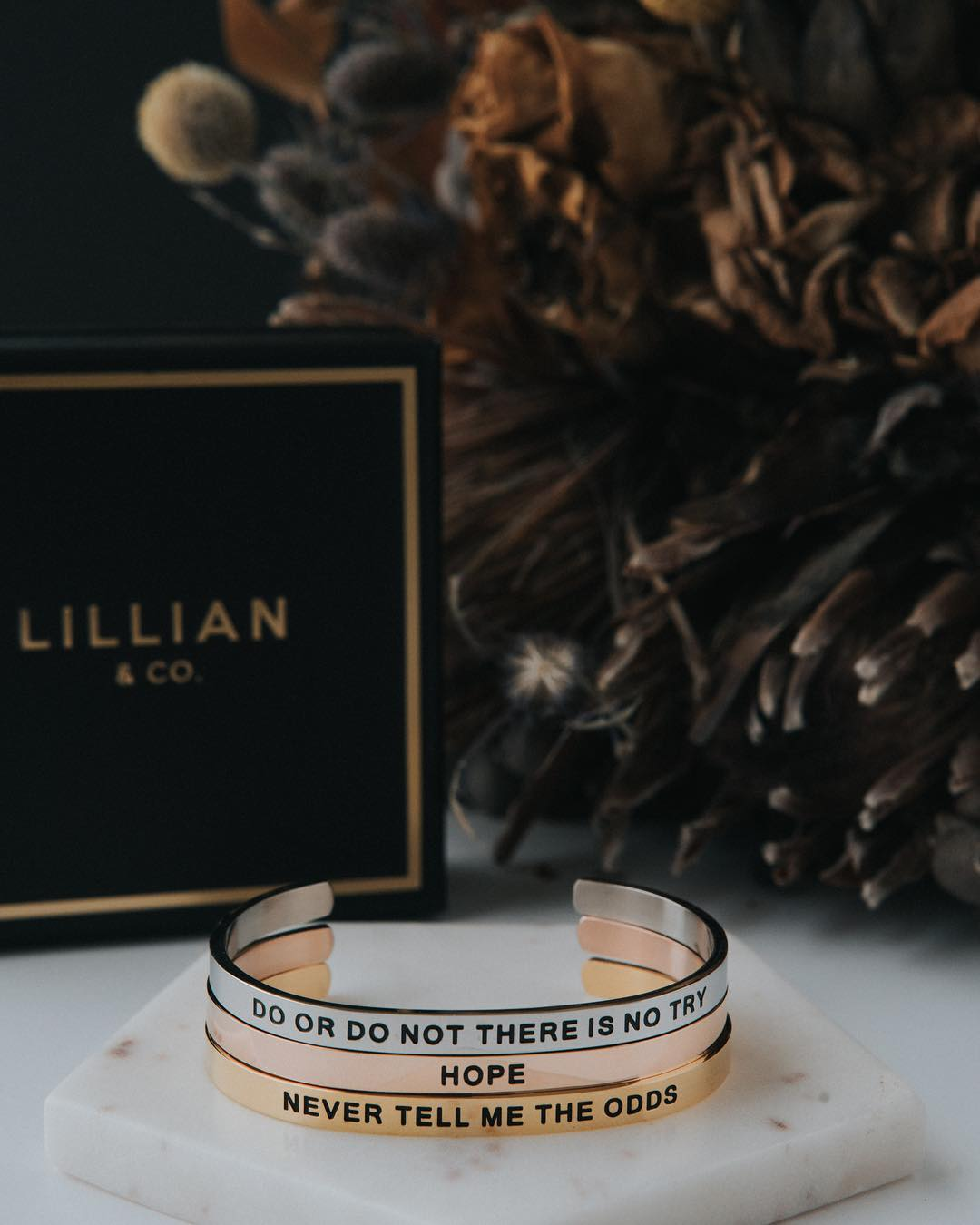 Star Wars Quote Bangle Bracelets by Lillian & Co
