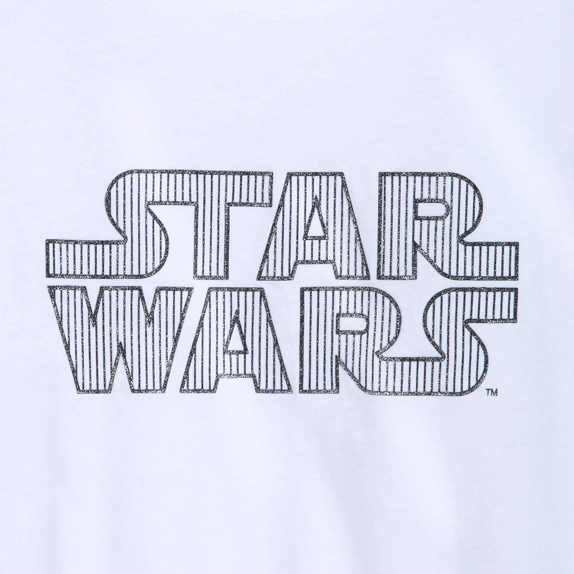 Women's Star Wars Glitter Logo T-Shirt at Shop Disney