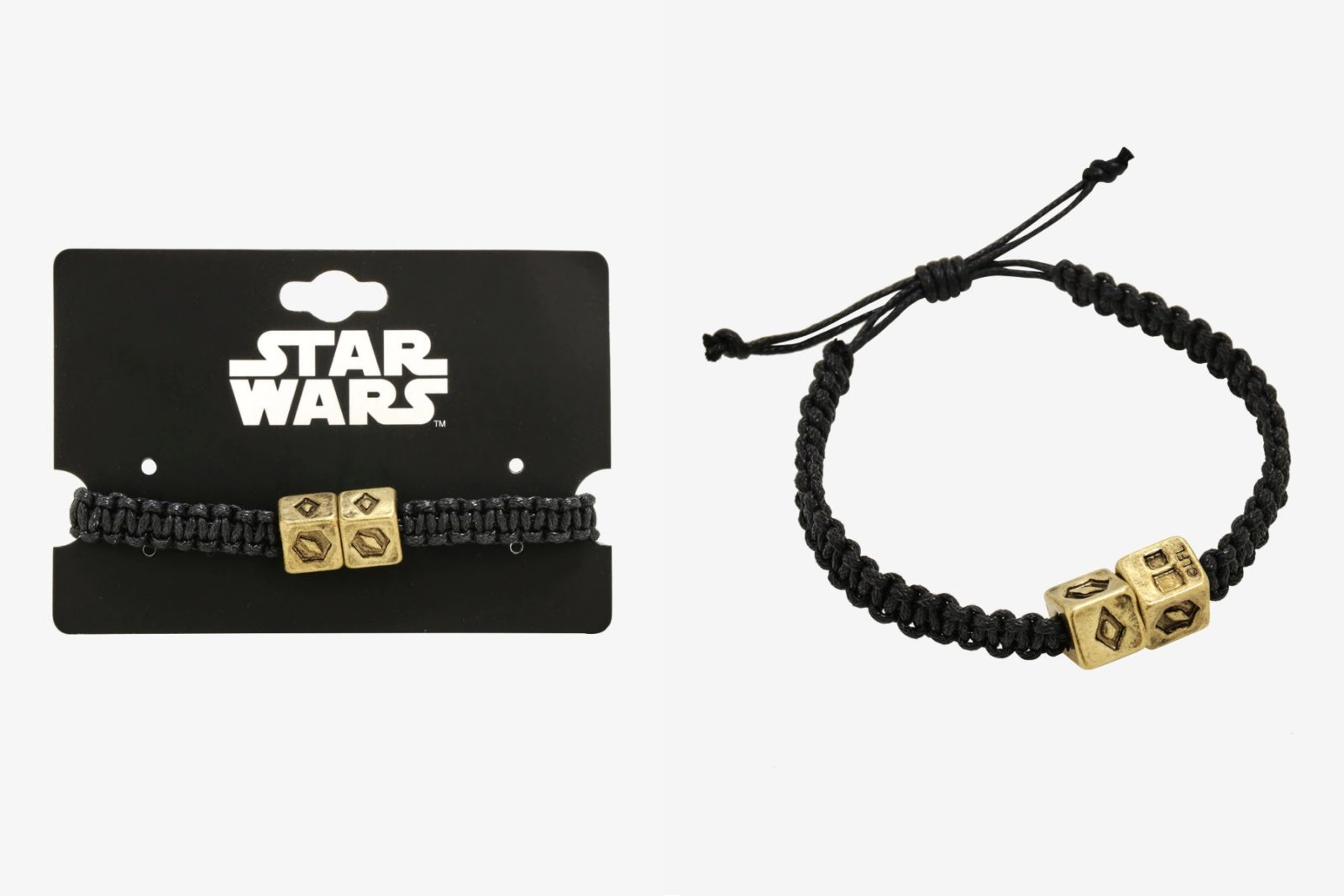 Solo Dice Cord Bracelet at Box Lunch