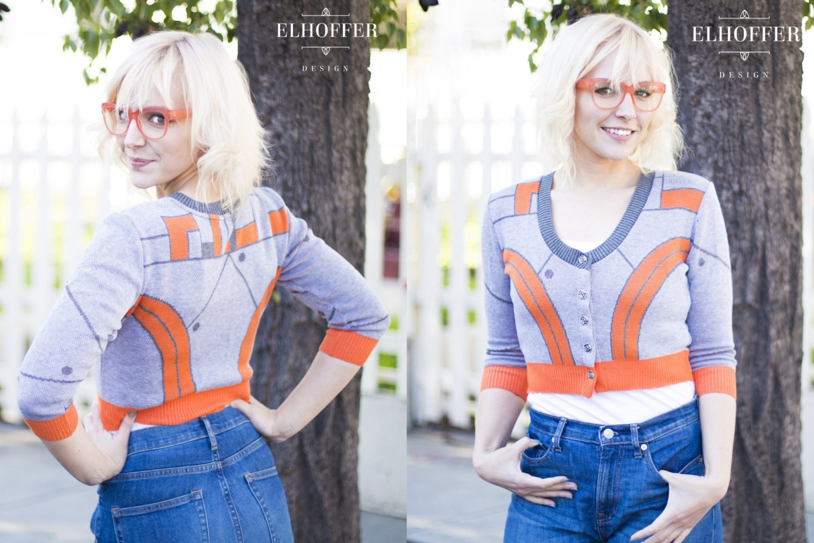 Elhoffer Design BB-8 Inspired Cardigan