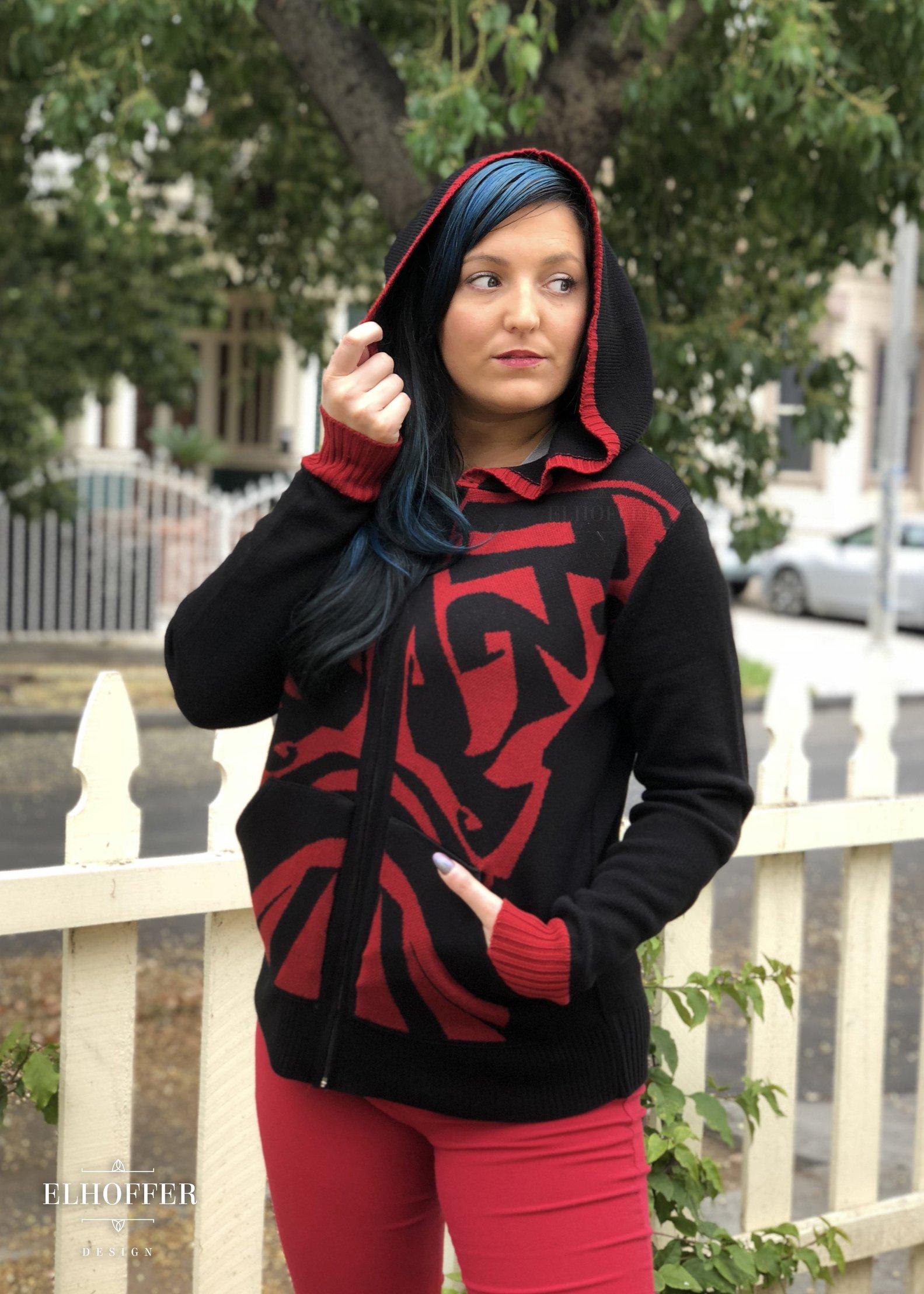 Elhoffer Design - Star Wars Darth Maul Inspired Galactic Shadow Knit Hoodie