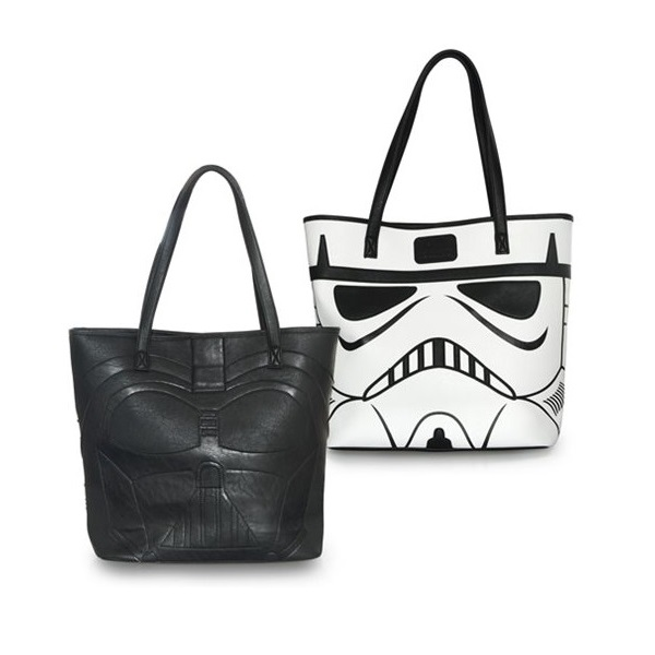 Loungefly x Star Wars Darth Vader & Stormtrooper faux leather tote bag at Entertainment Earth